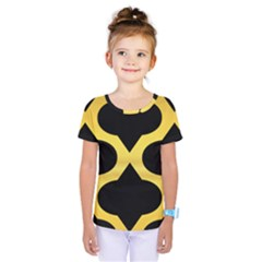 Seamless Gold Pattern Kids  One Piece Tee