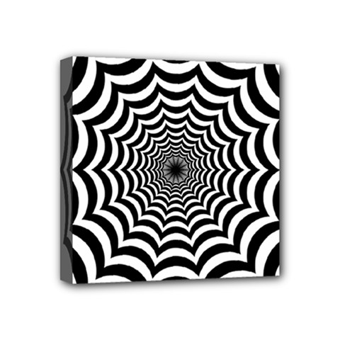 Spider Web Hypnotic Mini Canvas 4  X 4