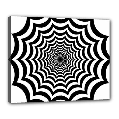 Spider Web Hypnotic Canvas 20  X 16