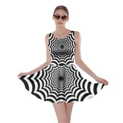 Spider Web Hypnotic Skater Dress