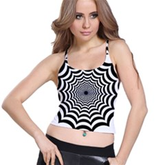 Spider Web Hypnotic Spaghetti Strap Bra Top