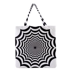 Spider Web Hypnotic Grocery Tote Bag