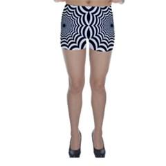 Spider Web Hypnotic Skinny Shorts