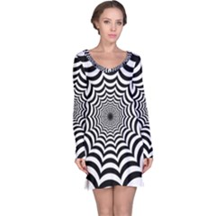 Spider Web Hypnotic Long Sleeve Nightdress