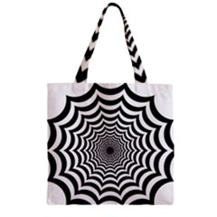 Spider Web Hypnotic Zipper Grocery Tote Bag