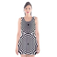 Spider Web Hypnotic Scoop Neck Skater Dress