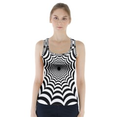 Spider Web Hypnotic Racer Back Sports Top