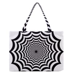 Spider Web Hypnotic Medium Zipper Tote Bag
