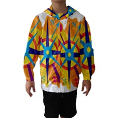 Orange navigation Hooded Wind Breaker (Kids)