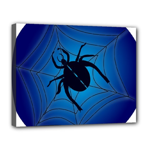 Spider On Web Canvas 14  x 11