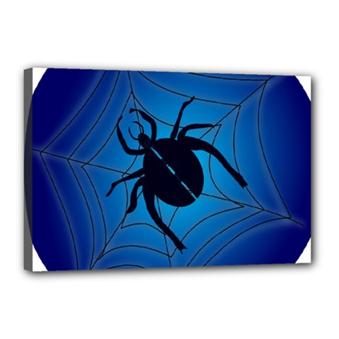 Spider On Web Canvas 18  X 12