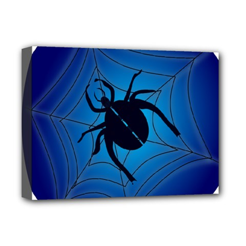 Spider On Web Deluxe Canvas 16  X 12