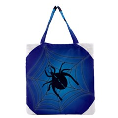Spider On Web Grocery Tote Bag