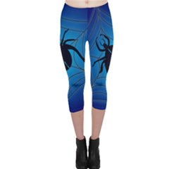 Spider On Web Capri Leggings