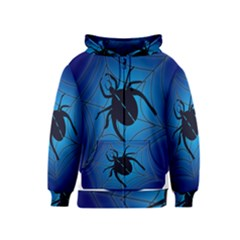 Spider On Web Kids  Zipper Hoodie
