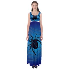 Spider On Web Empire Waist Maxi Dress