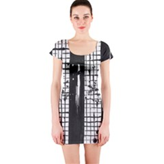 Whitney Museum Of American Art Short Sleeve Bodycon Dress