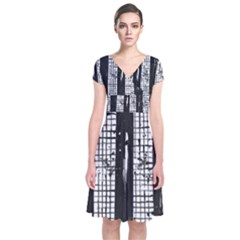Whitney Museum Of American Art Short Sleeve Front Wrap Dress
