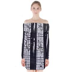 Whitney Museum Of American Art Long Sleeve Off Shoulder Dress