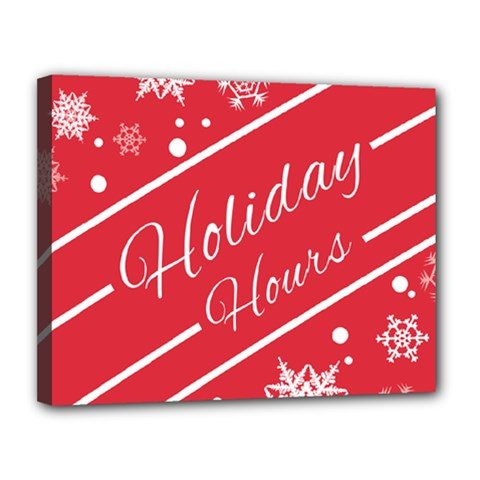 Winter Holiday Hours Canvas 14  X 11