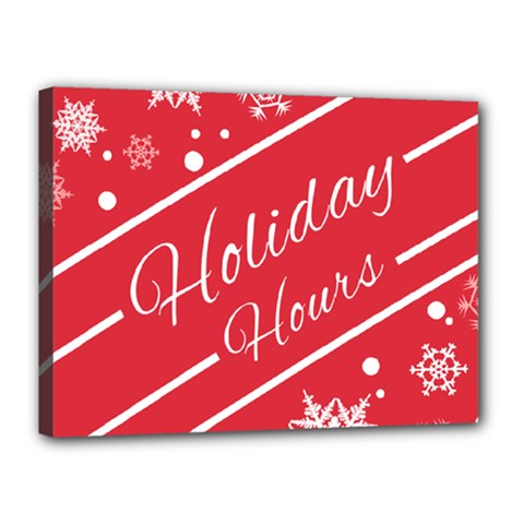 Winter Holiday Hours Canvas 16  X 12