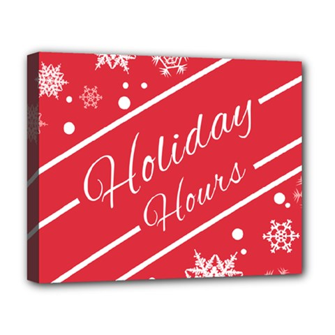 Winter Holiday Hours Deluxe Canvas 20  X 16