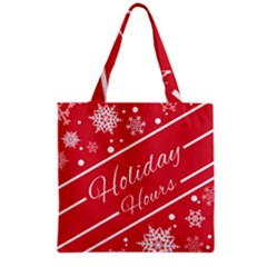 Winter Holiday Hours Grocery Tote Bag