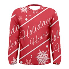 Winter Holiday Hours Men s Long Sleeve Tee