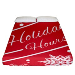 Winter Holiday Hours Fitted Sheet (king Size)