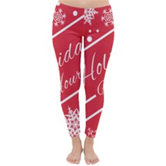 Winter Holiday Hours Classic Winter Leggings
