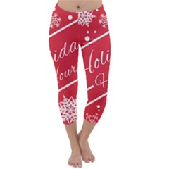 Winter Holiday Hours Capri Winter Leggings