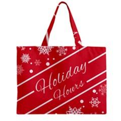 Winter Holiday Hours Zipper Mini Tote Bag