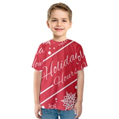 Winter Holiday Hours Kids  Sport Mesh Tee