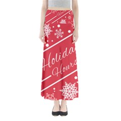 Winter Holiday Hours Maxi Skirts