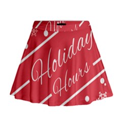 Winter Holiday Hours Mini Flare Skirt
