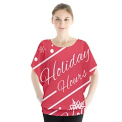 Winter Holiday Hours Blouse