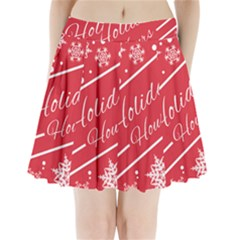 Winter Holiday Hours Pleated Mini Skirt
