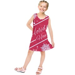 Winter Holiday Hours Kids  Tunic Dress