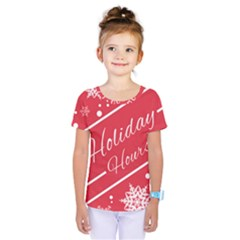 Winter Holiday Hours Kids  One Piece Tee