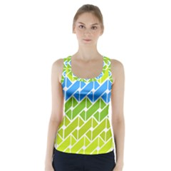 Link Pattern Racer Back Sports Top