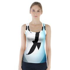 Moon Crow Racer Back Sports Top
