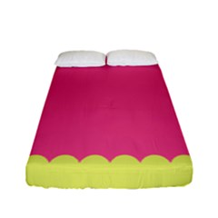 Pink Yellow Fitted Sheet (full/ Double Size)