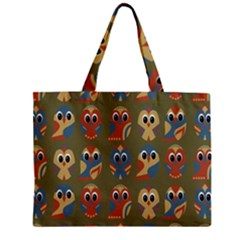 Owl Pattern Illustrator Zipper Mini Tote Bag