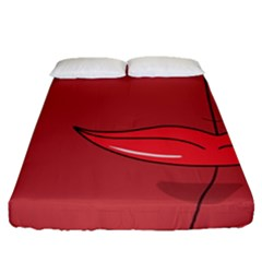 Paint A Ladybug Face Fitted Sheet (queen Size)