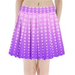 Purple And Pink Stars Pleated Mini Skirt