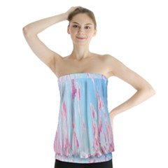 Pink Colour Strapless Top