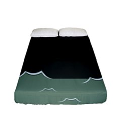 Rain Cloudy Sky Fitted Sheet (full/ Double Size)