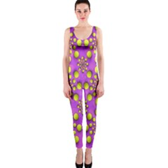 Purple Optical Illusion Wallpaper Onepiece Catsuit