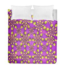 Purple Optical Illusion Wallpaper Duvet Cover Double Side (full/ Double Size)