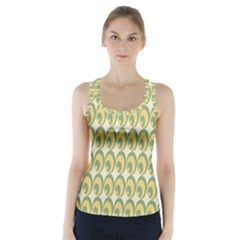 Pattern Circle Green Yellow Racer Back Sports Top